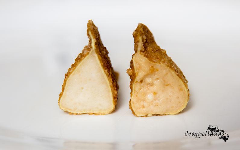 Croquellanas dulces de requesón y turrón