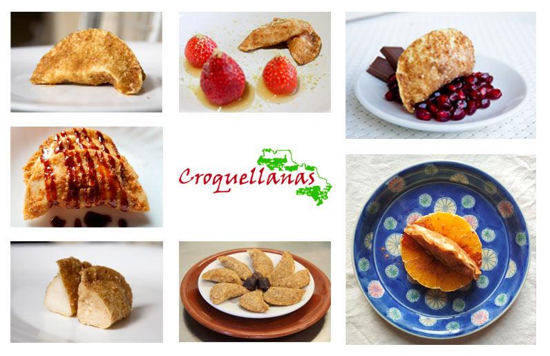 Platos de Croquellanas dulces
