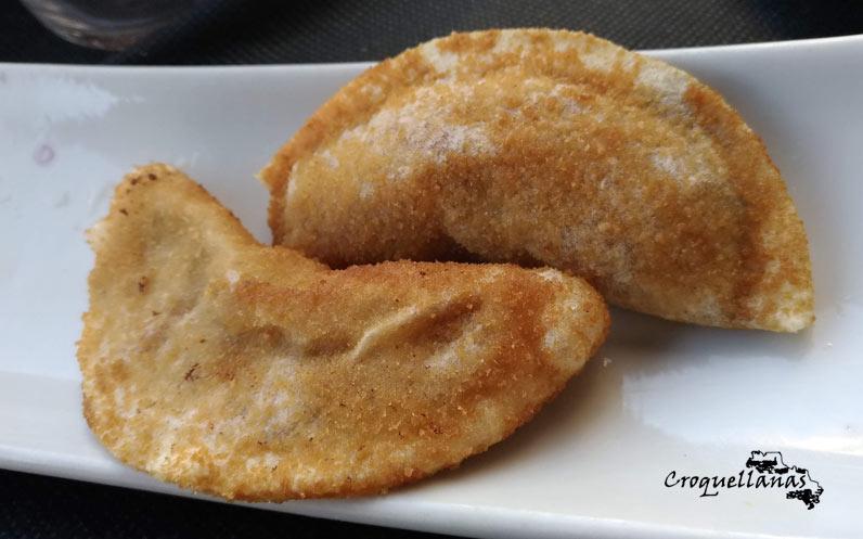 Croquellanas oblea cocinada