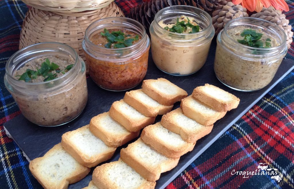 Patés y mousses Croquellanas con canapés