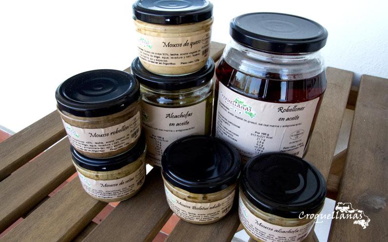 Mousses y conservas para ovolactovegetarianos