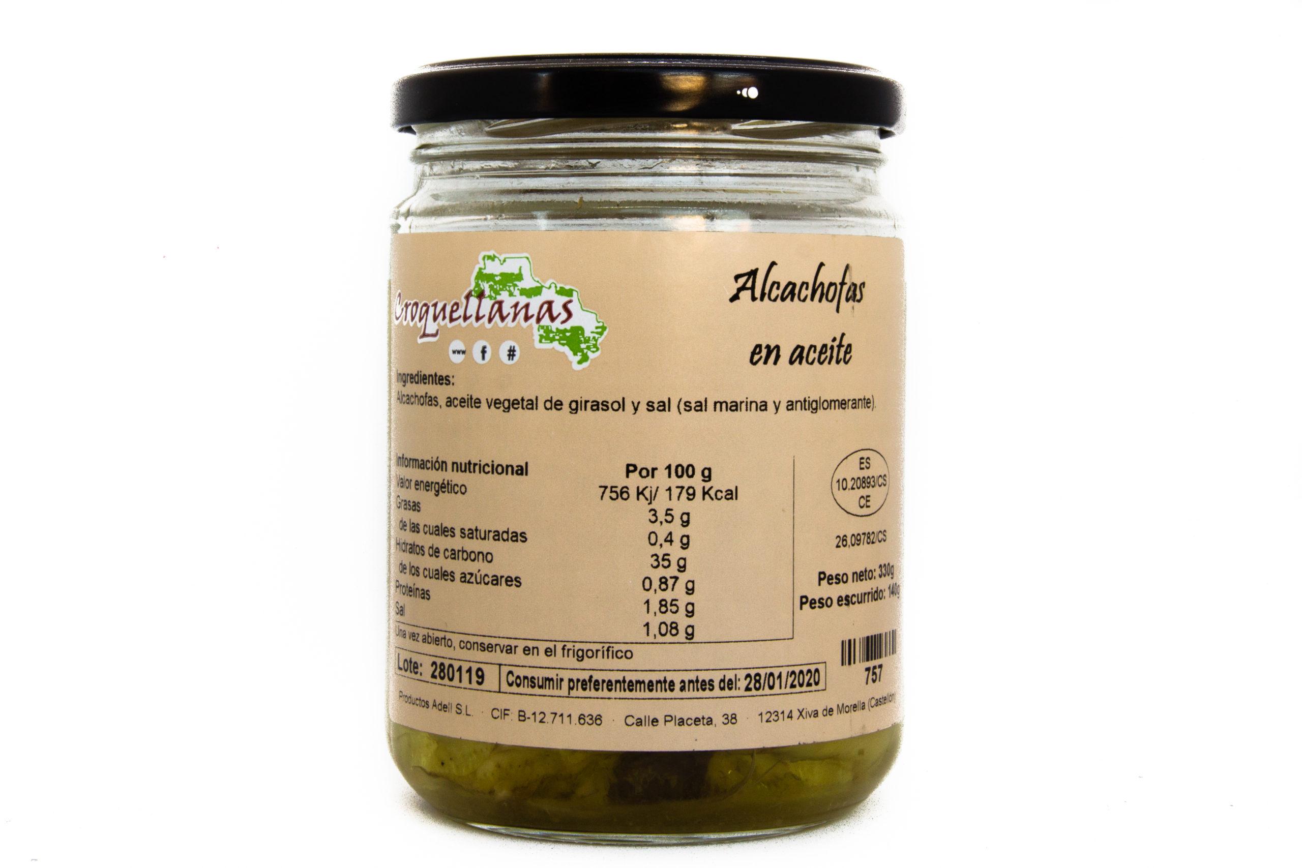 Alcachofas en aceite 1
