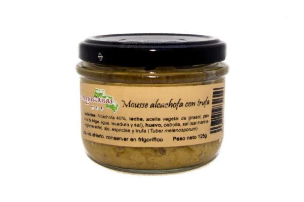 Mousse alcachofas con trufa negra 1