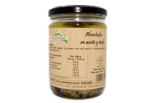 Alcahofas en aceite y trufa 1